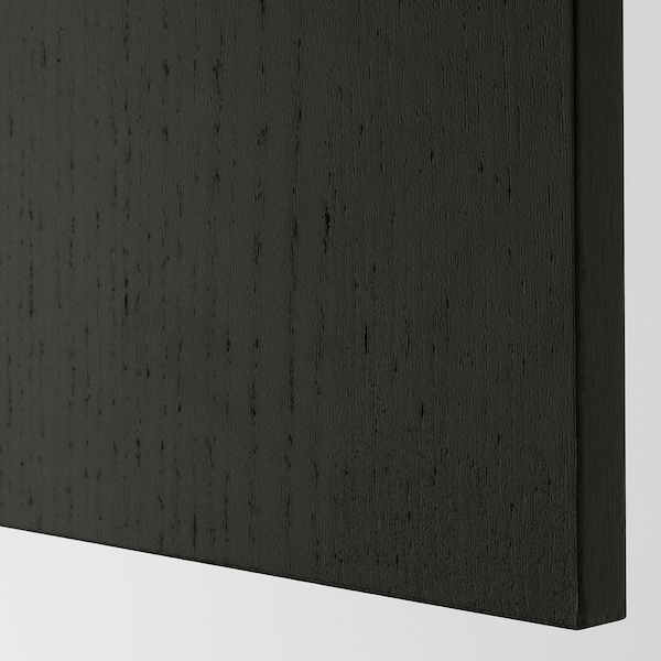 LERHYTTAN Cover panel, black stained, 39x240 cm