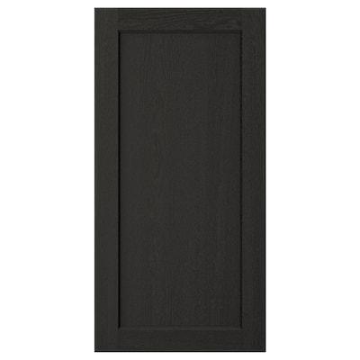 LERHYTTAN باب, صباغ أسود, 40x80 سم