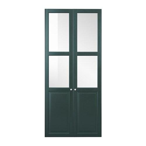 Liatorp Panelglass Door Dark Olive Green Ikea