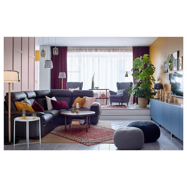 LIDHULT كنبة زاوية، 4 مقاعد, Grann/Bomstad بني غامق