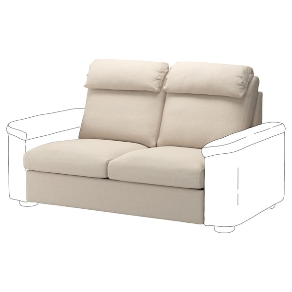 LIDHULT Cover for 2-seat sofa-bed section, Gassebol light beige