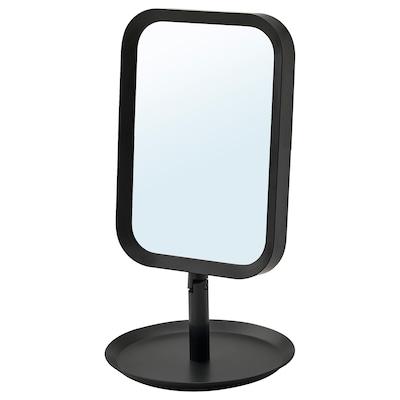 LINDBYN مرآة طاولة, أسود, 14x27 سم