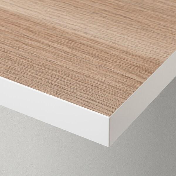LINNMON سطح طاولة, أبيض/مظهر سنديان مصبوغ أبيض, 120x60 سم