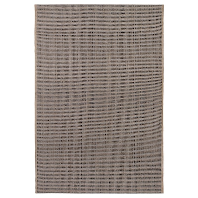 LISBJERG Rug, flatwoven, black/natural colour, 60x90 cm