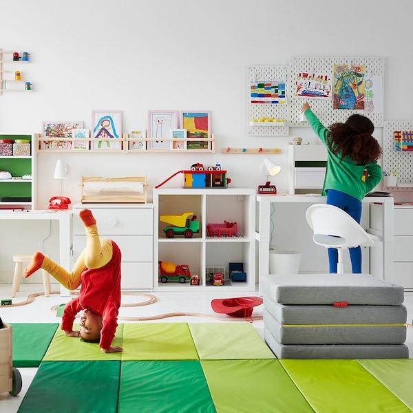 LOBERGET / SIBBEN كرسي مكتب أطفال, أبيض