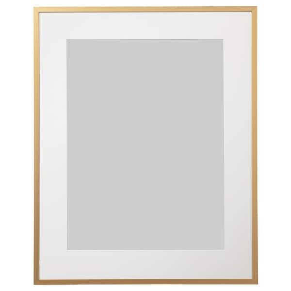LOMVIKEN Frame, gold-colour, 40x50 cm