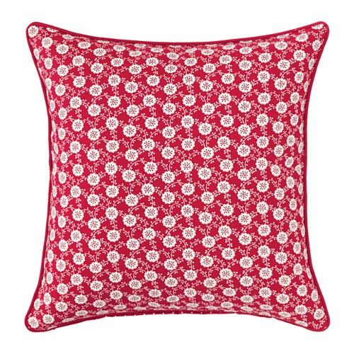 LÖVKOJA Cushion cover, red/white