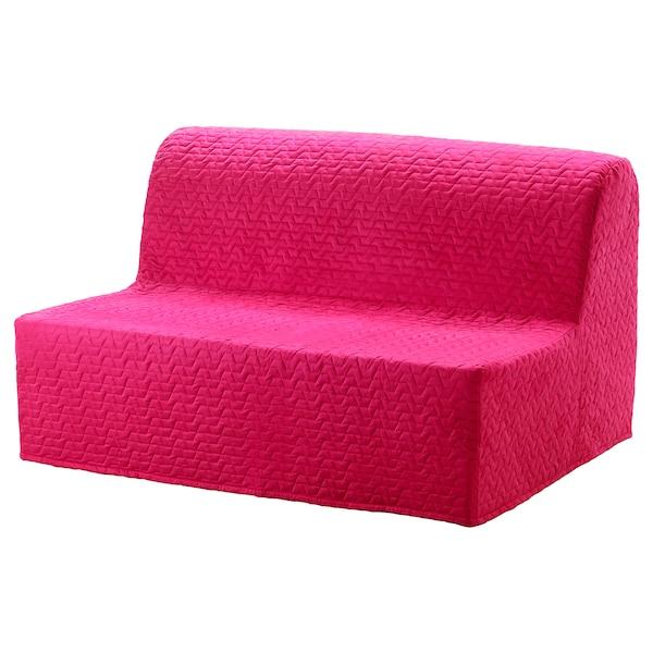 LYCKSELE MURBO 2-seat sofa-bed, Vallarum cerise