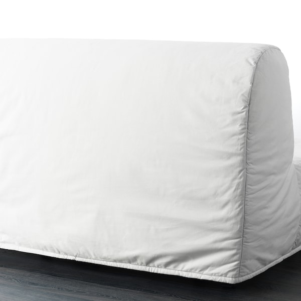 LYCKSELE MURBO Two-seat sofa-bed, Ransta white