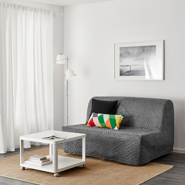LYCKSELE MURBO Two-seat sofa-bed, Vallarum grey