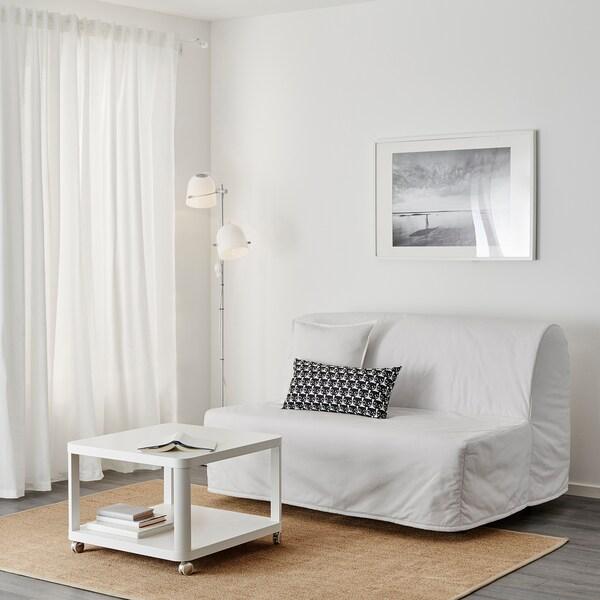 LYCKSELE غطاء لكنبة-سرير مقعدين, Ransta أبيض