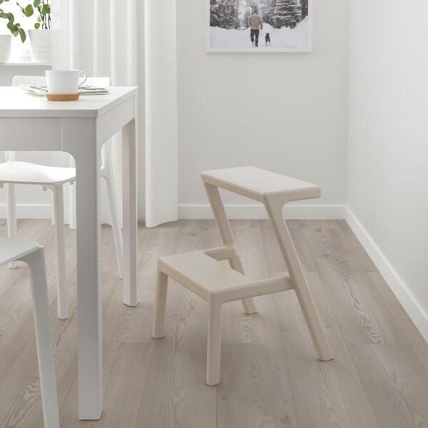 MÄSTERBY Step stool, beige