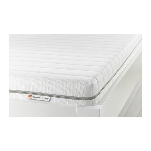 MALFORS Foam mattress, firm, white