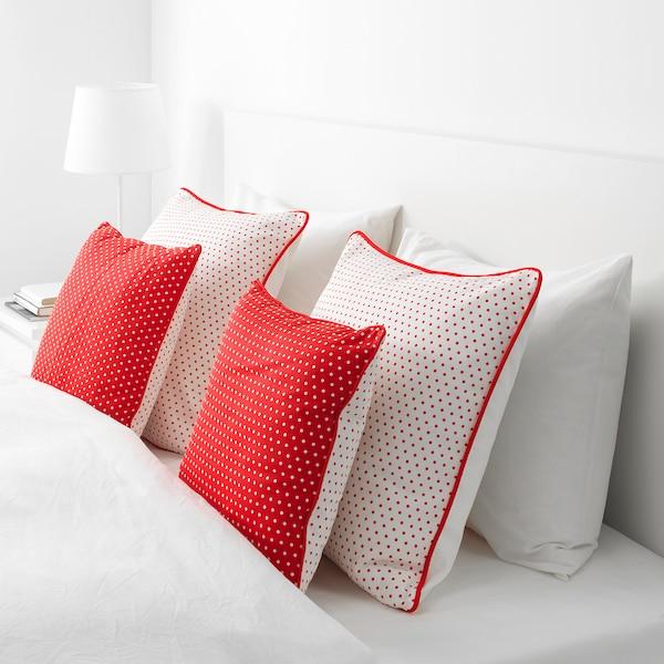 MALINMARIA Cushion, red/white dotted, 40x40 cm