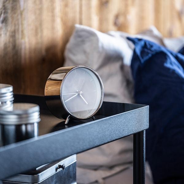 MALLHOPPA Alarm clock, silver-colour, 11 cm