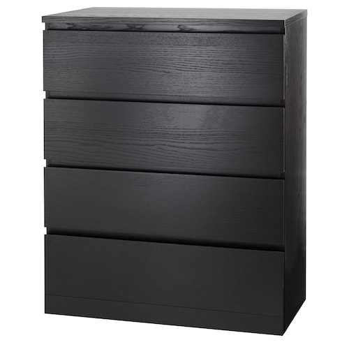 MALM chest of 4 drawers black-brown 80 cm 48 cm 100 cm 72 cm 43 cm