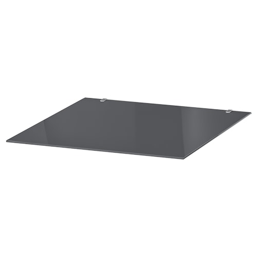 MALM glass top transparent grey 40 cm 48 cm