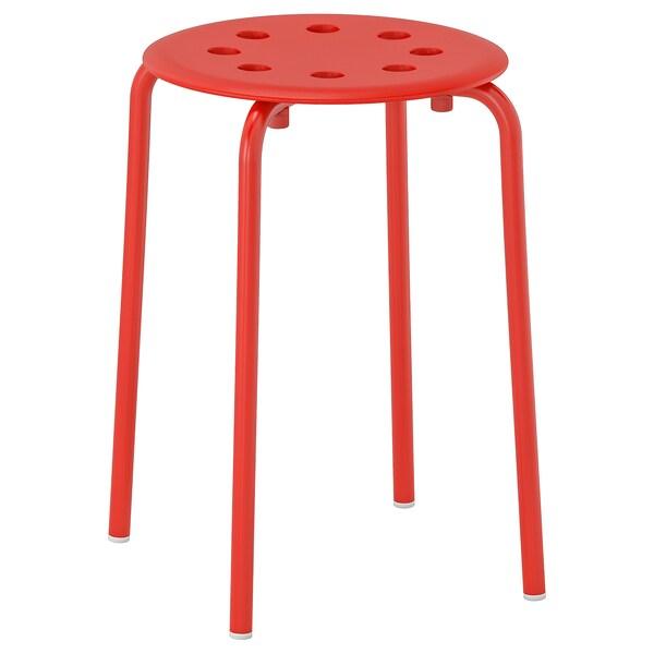 MARIUS Stool, red, 45 cm
