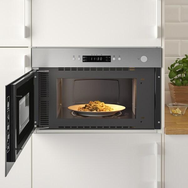 MATÄLSKARE Microwave oven, stainless steel colour