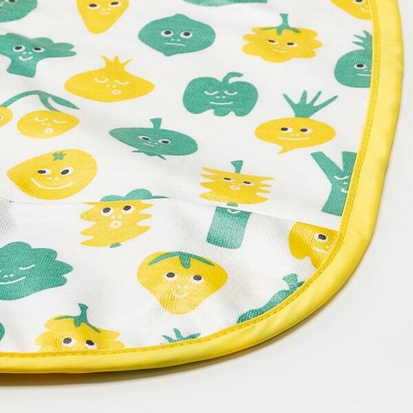 MATVRÅ صدرية طفل, نقش فاكهة/خضروات/أخضر أصفر