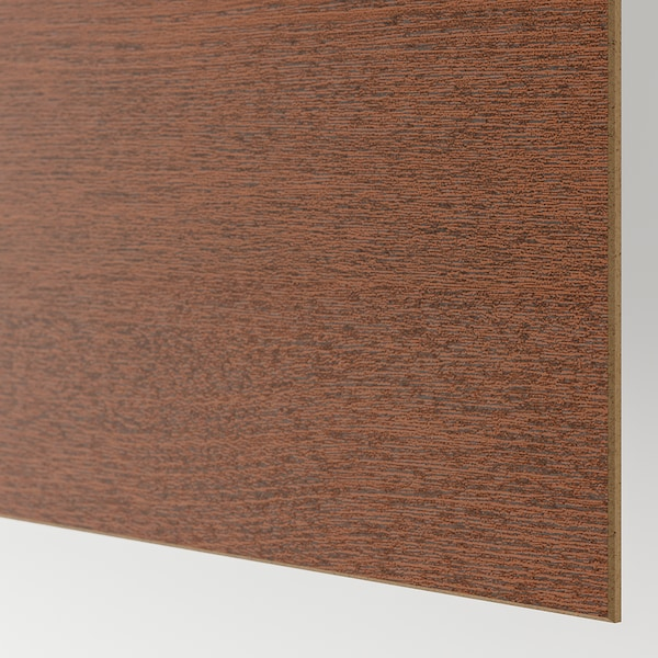 MEHAMN زوج من أبواب جرارة, مظهر الدردار أسود-بني/مظهر الخشب مصبوغ بني, 200x236 سم