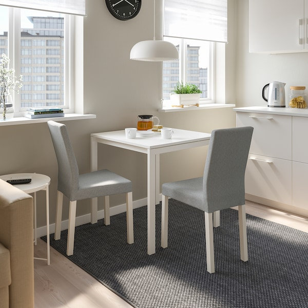 MELLTORP Table, white, 75x75 cm