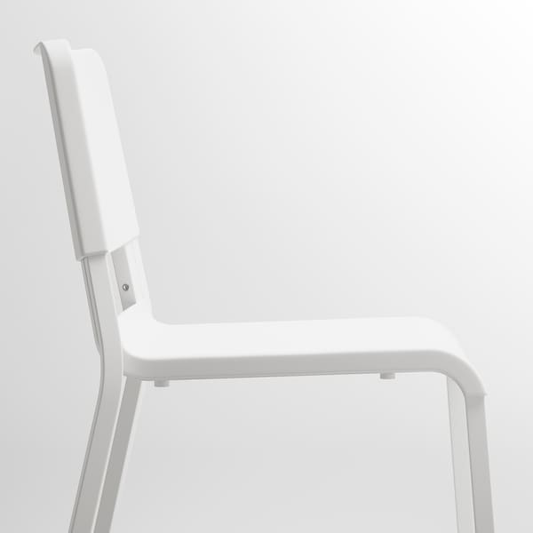 MELLTORP / TEODORES Table and 2 chairs, white/white, 75x75 cm