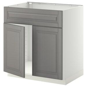 Metod Base Cabinet F Sink W 2 Doorsfront White Ringhult