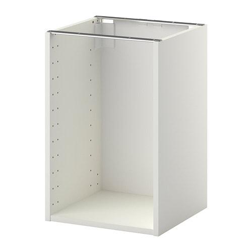 METOD Base cabinet frame, white