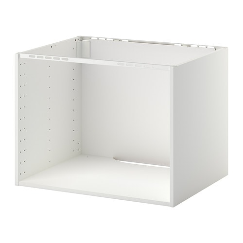 METOD Cabinet for built-in hob/sink, white