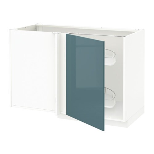 Metod Ikea metod corner base cab w pull out fitting white kallarp high gloss