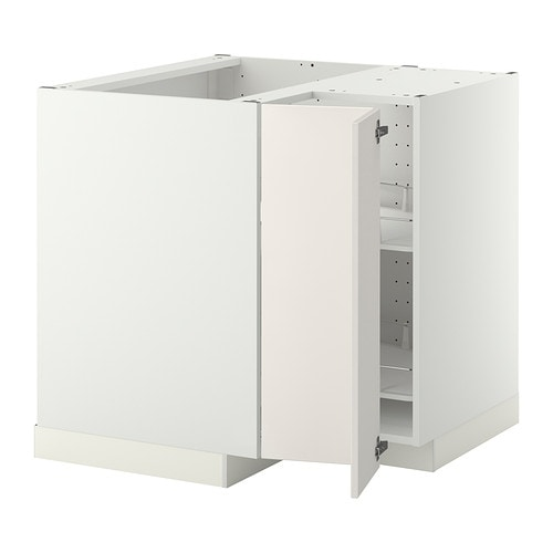 Kitchen Cabinets Ideas kitchen corner cabinet carousel : METOD Corner base cabinet with carousel - white, Veddinge white - IKEA