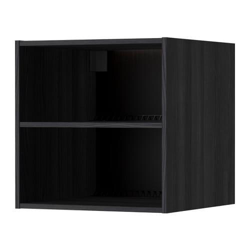 METOD Fridge/freezer top cabinet frame, wood effect black