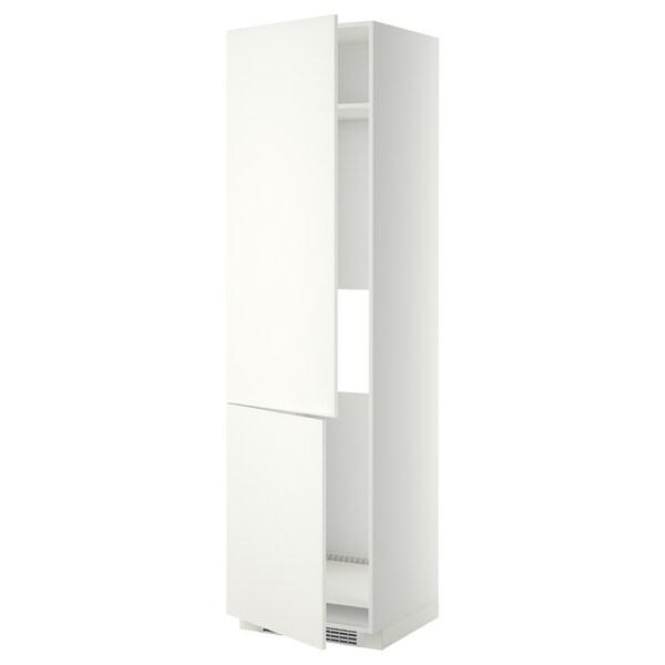 METOD High cab f fridge/freezer w 2 doors, white/Häggeby white, 60x60x220 cm