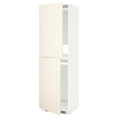 METOD خزانة مرتفعة للثلاجة/الفريزر, أبيض/Hittarp أبيض-عاجي, 60x60x200 سم