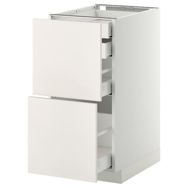 METOD / MAXIMERA خ. قاعدة2واجه/2 منخفض/1وسط/1 علوي, أبيض/Veddinge أبيض, 40x60 سم