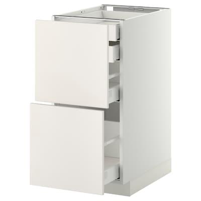 METOD / MAXIMERA Base cb 2 frnts/2 low/1 md/1 hi drw, white/Veddinge white, 40x60 cm
