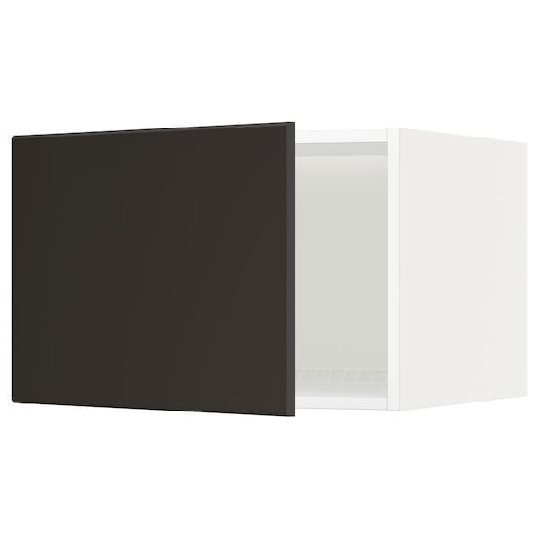 METOD خزانة علوية لثلاجة/فريزر, أبيض/Kungsbacka فحمي, 60x40 سم