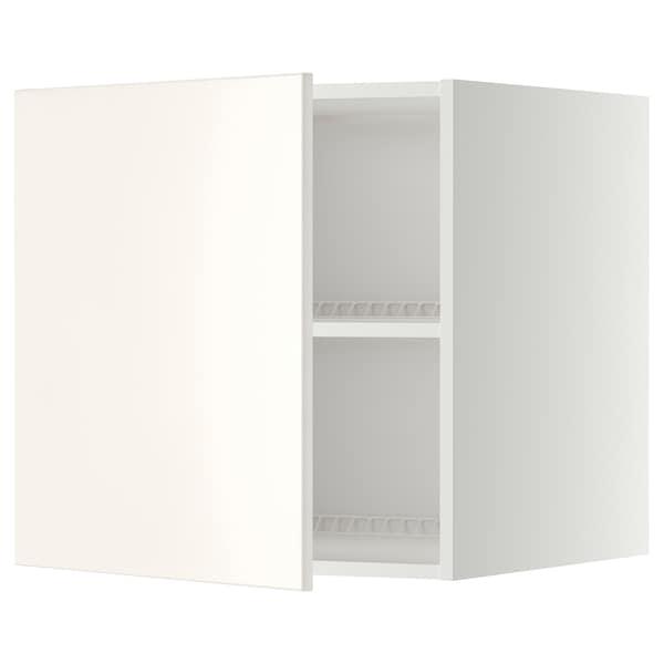 METOD خزانة علوية لثلاجة/فريزر, أبيض/Veddinge أبيض, 60x60 سم