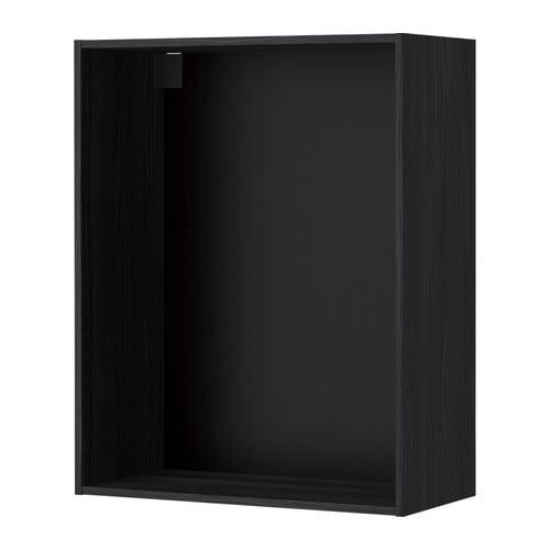 METOD Wall cabinet frame, wood effect black