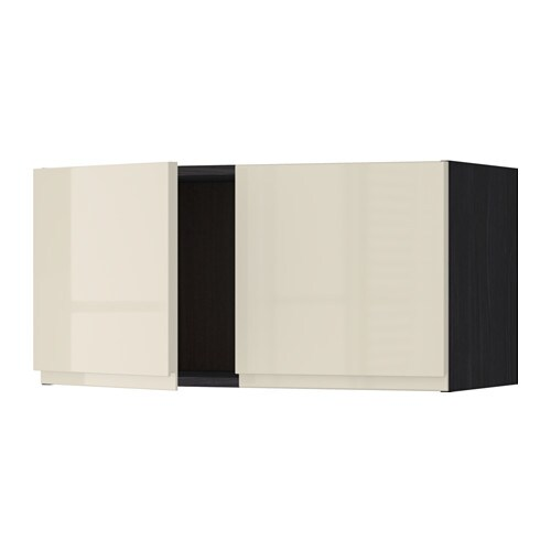Metod Wall Cabinet With 2 Doors White Voxtorp High Gloss: METOD Wall Cabinet With 2 Doors