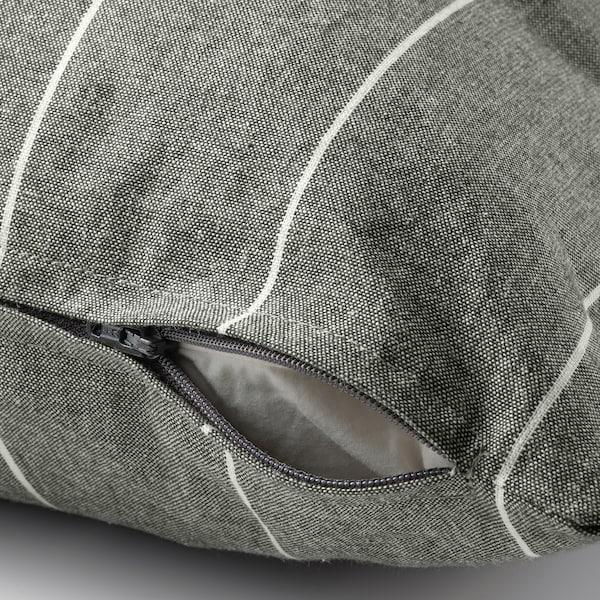 MILDRUN Cushion cover, grey/striped, 50x50 cm