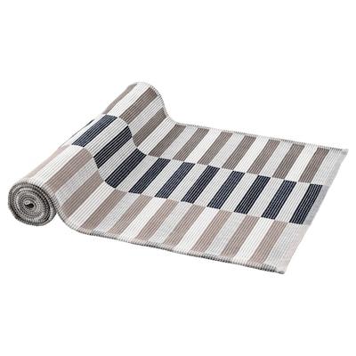 MITTBIT مفرش طاولة, أسود بيج/أبيض, 35x130 سم