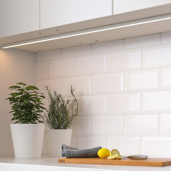 MITTLED LED kitchen worktop lighting strip, dimmable white, 40 cm
