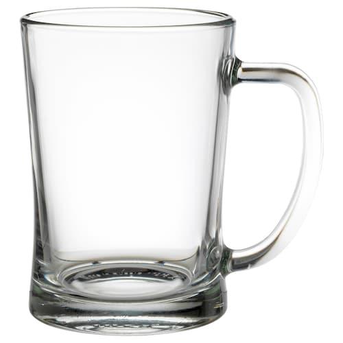 MJÖD beer tankard clear glass 14 cm 60 cl