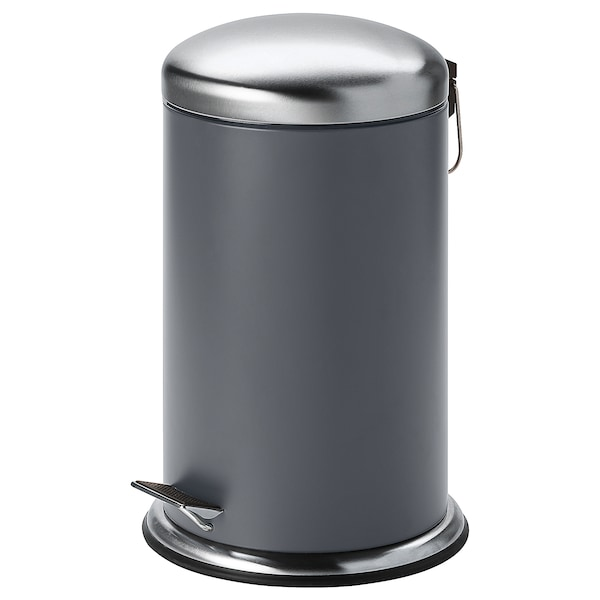MJÖSA Pedal bin, dark grey, 12 l