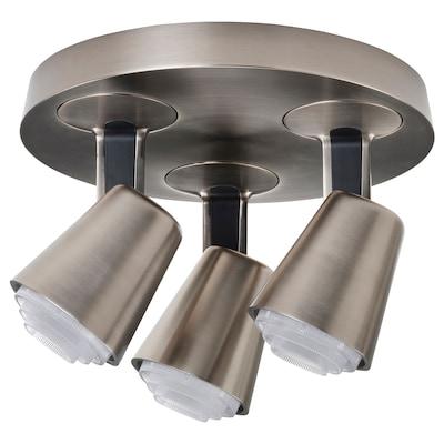 MONAZIT اضاءة سقف مع 3 سبوتات, طلاء - نيكل