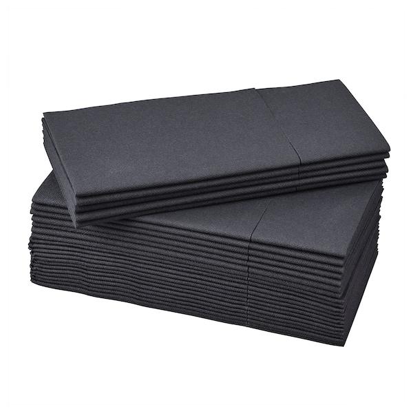 MOTTAGA مناديل ورقية, أسود, 38x38 سم
