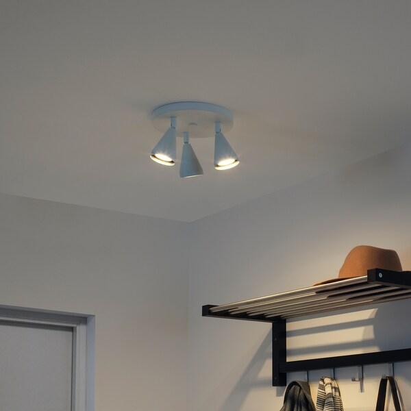 NÄVLINGE اضاءة سقف مع 3 سبوتات, أبيض
