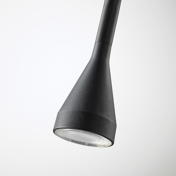 NÄVLINGE مصباح أرضية/قراءة LED, أسود